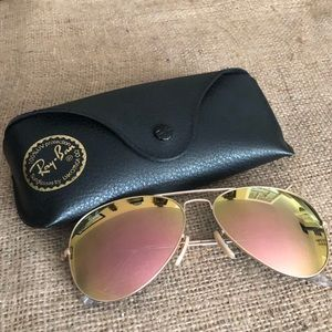 Rose gold Aviator Ray Bands